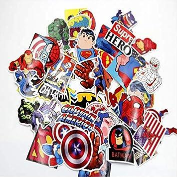 YLGG Super Heroes Pegatinas Batman Superman Ironman Hulk Car ...