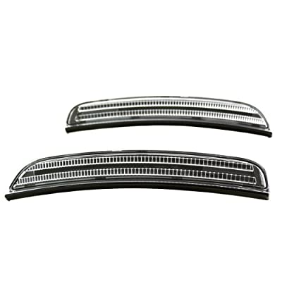 TopPick 68214405AA-68214404AA-CY Bumper Reflector Lights FOR Dodge Charger 2015-2020 Clear/Black: Automotive