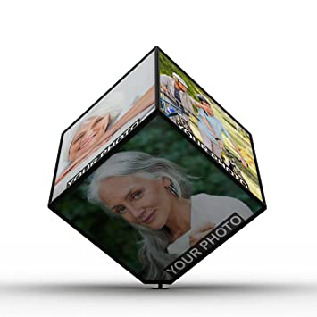 f27c72575a66 Buy Beautiful Personalized Rotating Cube Photo Frame Online at Low Prices  in India - Amazon.in