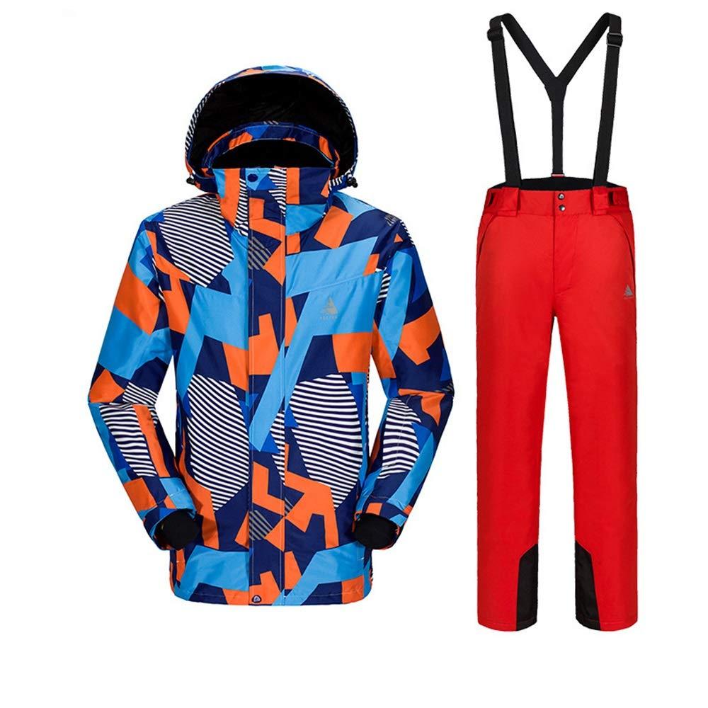 AUMING Skianzug Skijacke Herren Outdoor Ski Jacke und Hose Schnee Isolierte Klage Winddicht und wasserdicht (Farbe : C6, Größe : XXL)