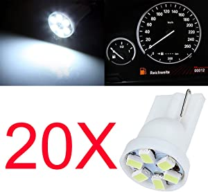 cciyu T10 Wedge 147 LED Light Bubs White 194 168 LED Bulbs Instrument Panel Gauge Dash Light