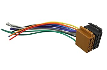 61FnaRUizbL._SX355_ amazon com dkmus universal iso car radio wire cable wiring universal radio wiring harness at aneh.co