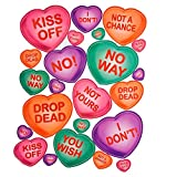 Non-Romantic Candy Hearts Peel 'N Place Party Accessory (1 count) (23/Sh)