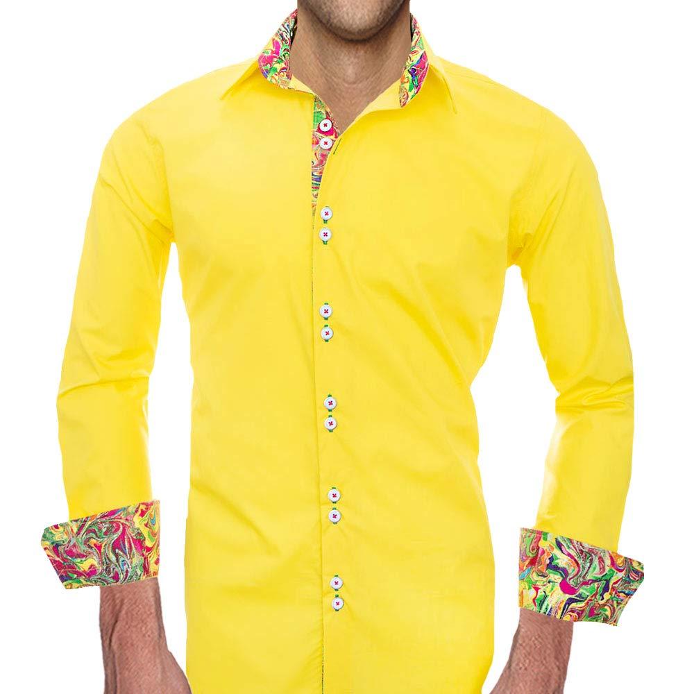 230aea8d2e88 Amazon.com: Bright Yellow Dress Shirts - Made in the USA: Handmade
