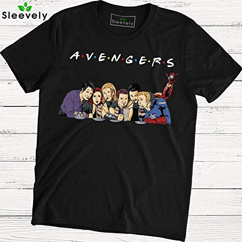 moderne et élégant à la mode en ligne bas prix Avengers Friends T-Shirt Captain America Thor Iron Man Hulk Friends TV Show
