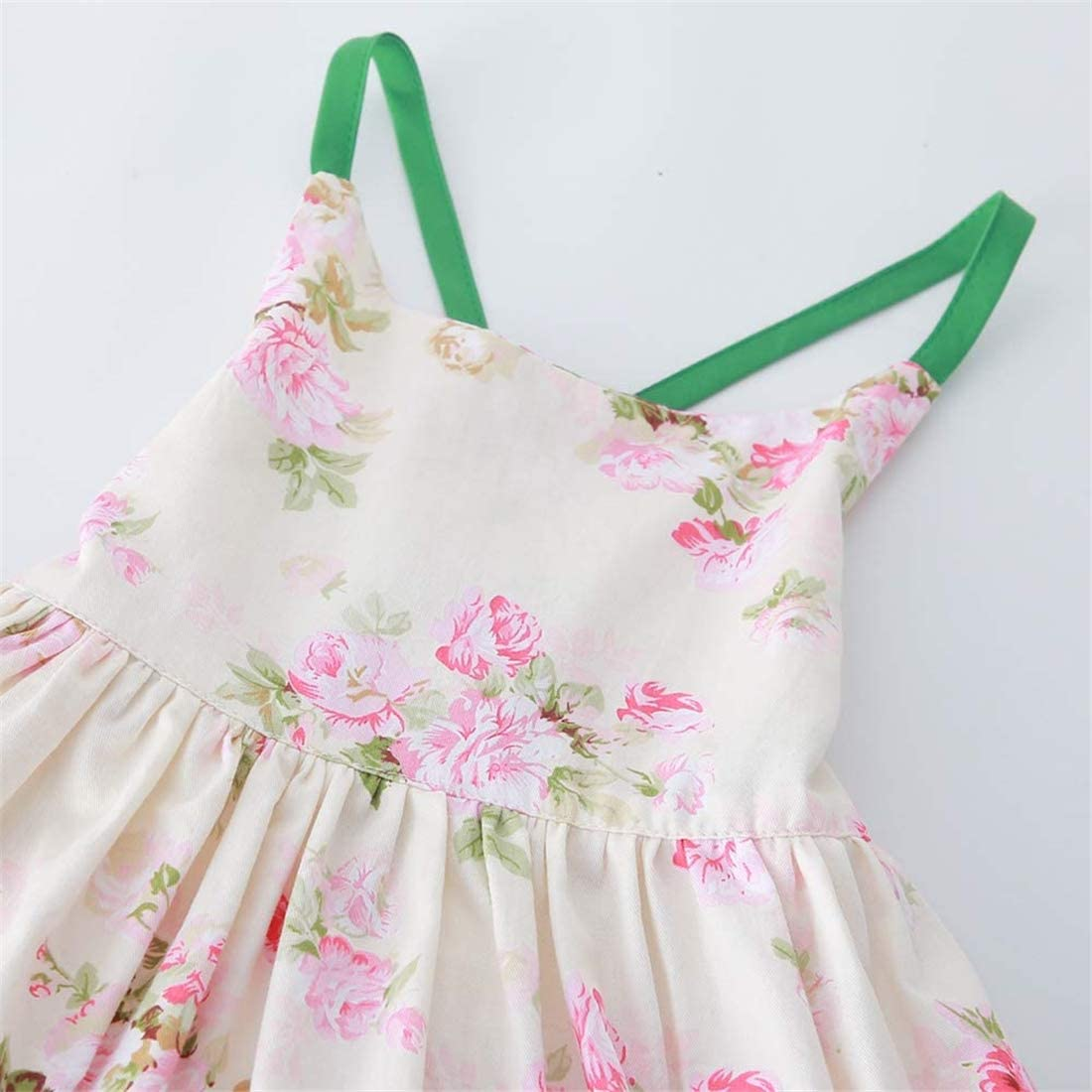KISSOURBABY Girls Dresses Summer Kids Baby/ Party/ Floral Dress 1-10 Years