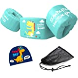 Seanrui Kids Pool Floats Swim Vest with Swim Cap and Storage Bag, Suitable for 30-50 lbs Infant/Baby/Toddler,Children…