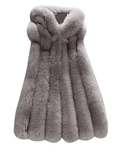 FOLOBE Womens 'Invierno chaleco de piel de falso chaleco Gilet