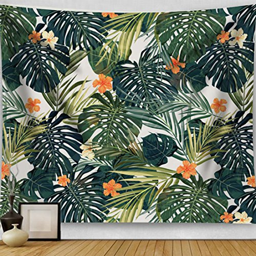 Artiron Palm Leaves Flower Tapestry,2018 Abstract Painting Wall Art Boho Hippie Vintage Wall Hanging Tapestry Home Decor for Bedroom Living Room Dorm Apartment (60