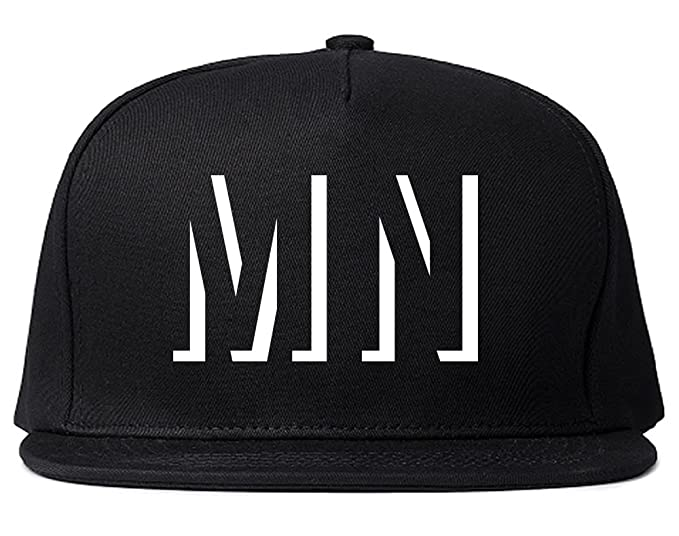 Kings Of NY MN Minnesota Abbreviation State Snapback Hat Black
