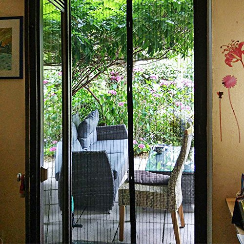 Magnetic screen door mycarbon heavy duty mesh screen doors for Patio screen doors for sale