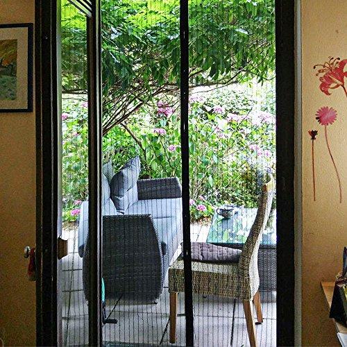 Magnetic screen door mycarbon heavy duty mesh screen doors for Retractable screen door magnets