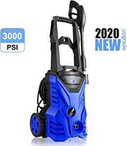 WHOLESUN 3000PSI Electric Pressure Washer 2.4GPM Power Washer 1800W High Pressure Cleaner Machine with 4 Nozzles Foam Cannon,Best for Cleaning Homes, Cars, Driveways, Patios (Blue)