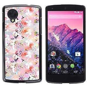 Be Good Phone Accessory // Dura Cáscara cubierta Protectora Caso Carcasa Funda de Protección para LG Google Nexus 5 D820 D821 // Colorful Flowers Pastel