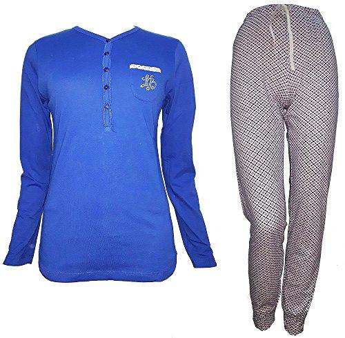 96030 BIAGIOTTI donna royal S art serafino nuova lungo collezione LAURA pigiama cotone w0dqaX11