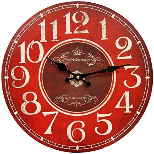 red kitchen clock - 4