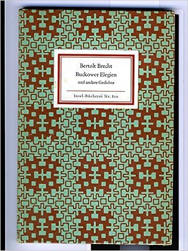 Buckower Elegien Und Andere Gedichte Auf Titelblatt