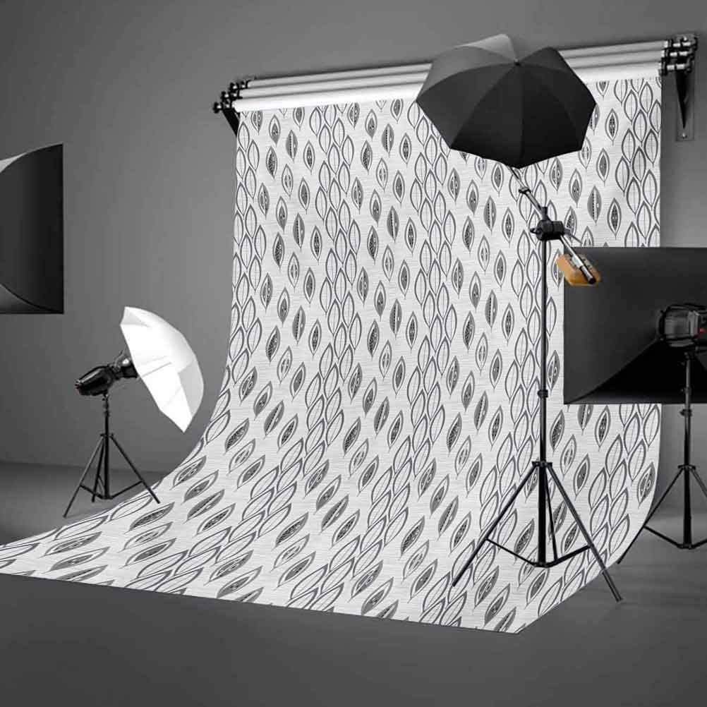 10x15 FT Photo Backdrops,Greyscale Composition of Foliage Pattern Striped Background Abstract Design Background for Kid Baby Boy Girl Artistic Portrait Photo Shoot Studio Props Video Drape Vinyl