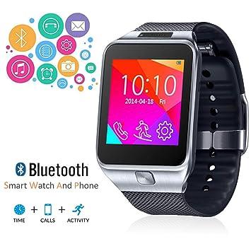 Indigi® 2 en 1 interconvertible GSM inalámbrico + Bluetooth Reloj inteligente y teléfono w/Cámara ~ desbloqueado. (plata): Amazon.es: Electrónica