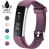 Fitness Tracker, Unisex Adults Kids Activity Tracker Watch with Sleep Monitor, Step Counter, Calorie Counter, Waterproof Slim Pedometer Watch for Kids Women and Men, iOS and Android IP67, Purple