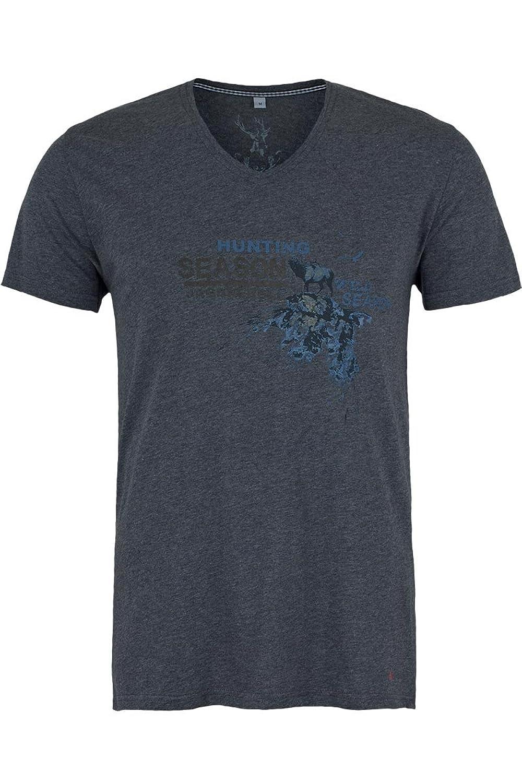 Herren Spieth & Wensky T-Shirt V-Ausschnitt Jagdrebell dunkelgrau, dunkelgrau,