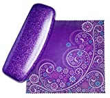 Best Glasses With Purples - Mystic Purple Small Eyeglass Case by SPUNKYsoul Coated Review