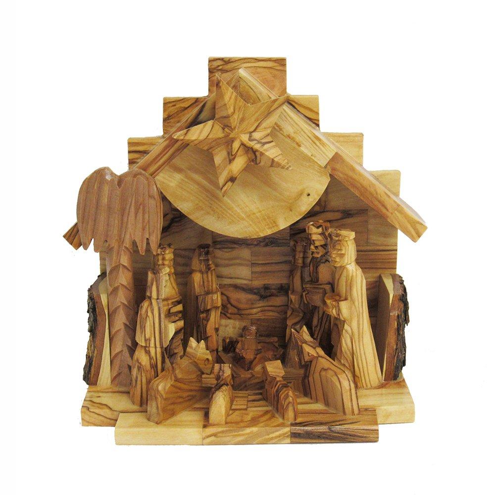 Kurt Adler LOC0003 7.9'' Olive Wood Nativity Music Box by Kurt Adler