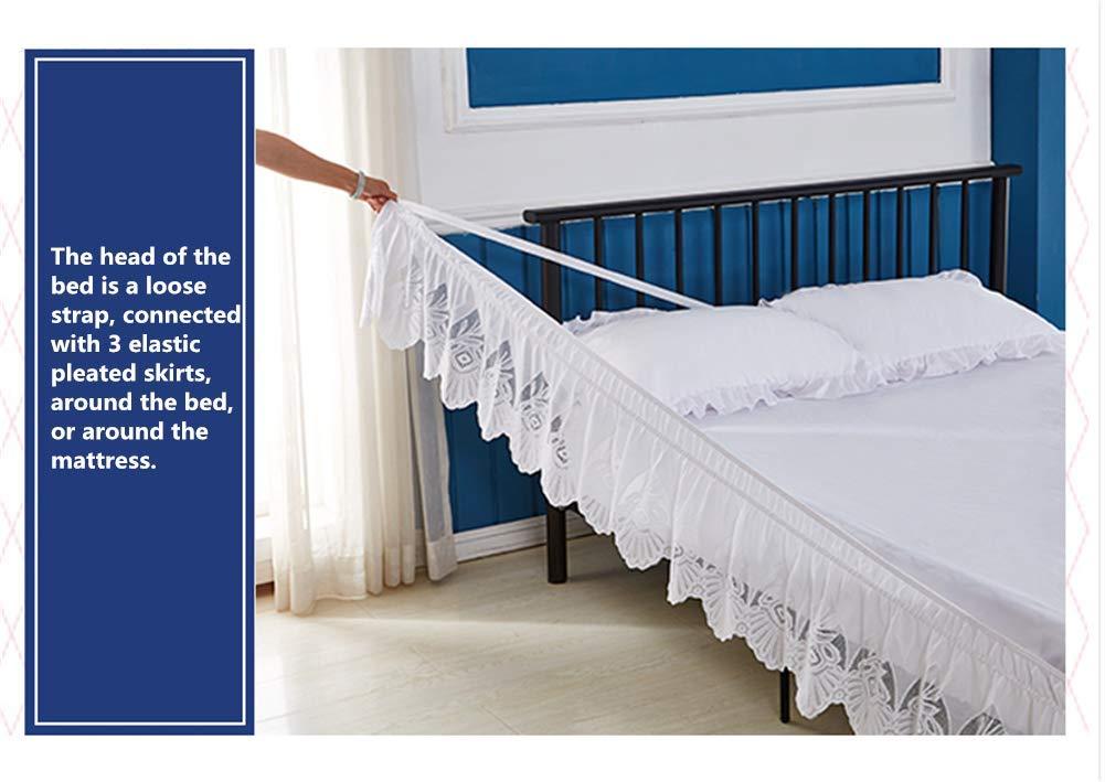 Falda de la Cama del cordón,Casa Falda de Cama,Banda elástica Falda de Cama,Sin Superficie de la Cama,para Hotel Dormitorio-B 150x200x37cm(59x79x15inch): ...