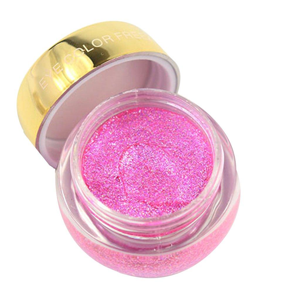 Fish Colore unico Make Up luccichio impermeabile ombretto crema trucco duraturo Metallic Eye Shadow Gel Glitter