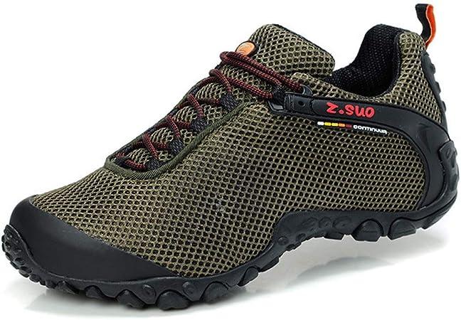Zapatos de Senderismo - Zapatillas de Trail Runnin Calzado Casual | Zapatillas De Deporte | Suela De Goma | Malla Transpirable | Protección De Seguridad | Verde Militar (Size : 39 1/3): Amazon.es: Hogar