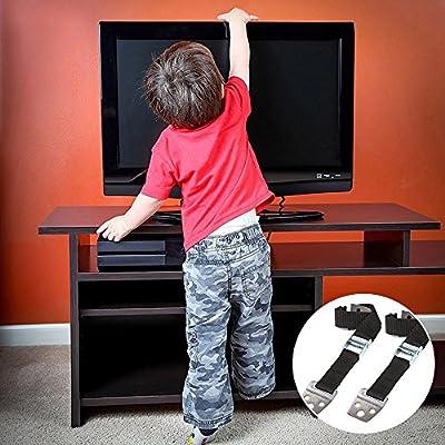 TV Correa 2 pcs Nylon Correa Seguridad para Muebles para Altavoces ...