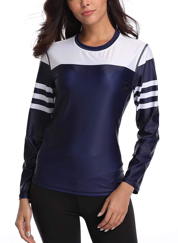 Taylover Damen Schwimmshirt UV Shirt Rash Guard Badeshirt UPF 50+ Spitze Bademode