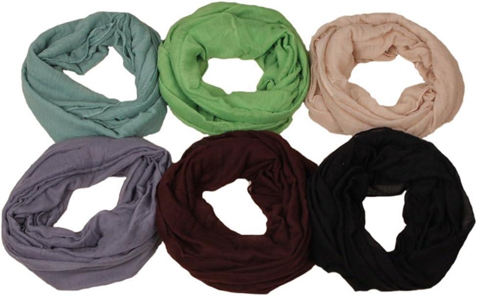 Enticerowts - Sciarpa da donna per l'inverno, ideale come regalo per la corsa, equitazione, escursionismo, yoga, sport, multifunzionale Nero