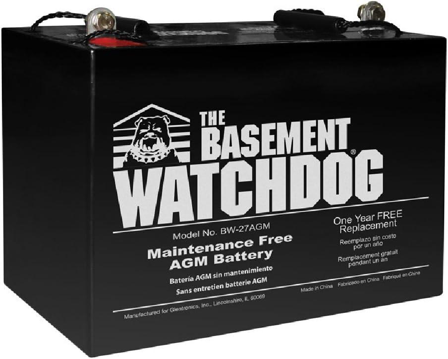 THE BASEMENT WATCHDOG Model BW-27AGM Maintenance Free (AGM) Sump Pump Battery
