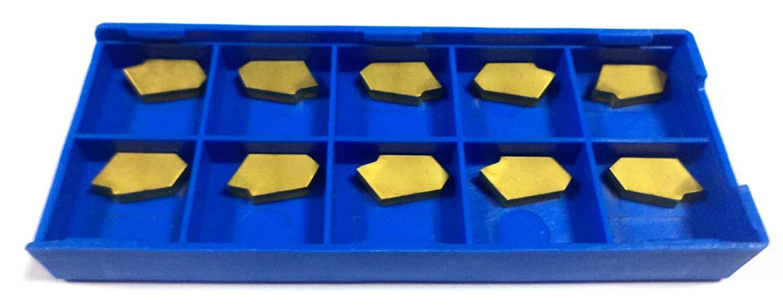 CNC QUALIT/ÄT Wendeplatten Stechplatten GTN-4 f/ür ISCAR Stechschwert TiN Beschichtung 10 St/ück