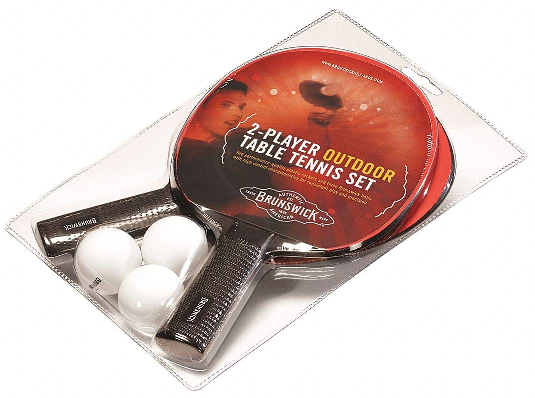Paddle and Ball Set; For Use With Table Tennis Table