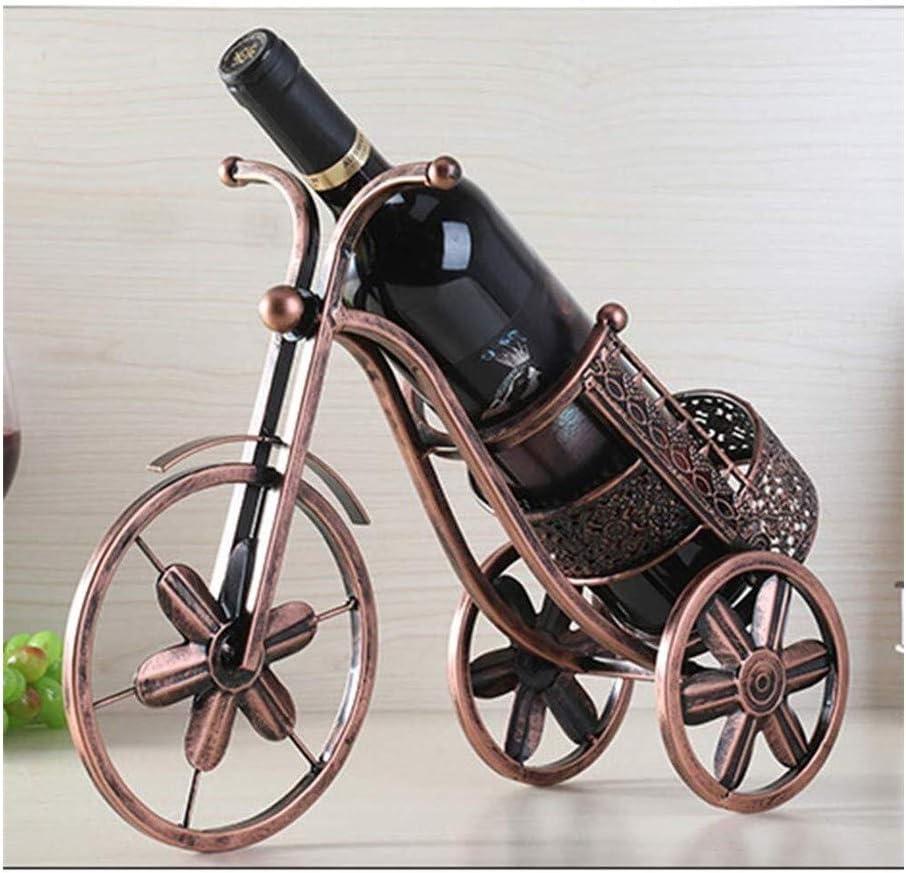 JIAHE115 Estantería de Vino Creativo del Vino Vino Rack de Bicicletas Antiguas Bicicletas de Tres Ruedas de Metal