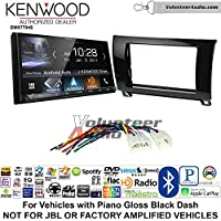 Volunteer Audio Kenwood DMX7704S Double Din Radio Install Kit with Apple CarPlay Android Auto Bluetooth Fits 2007-2013 Non Amplified Toyota Tundra, 2008-2013 Sequoia (Metallic Gray)