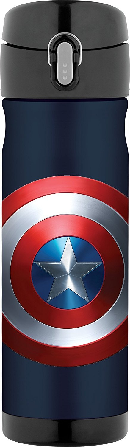 Thermos 16 Ounce Stainless Steel Commuter Bottle, Captain America