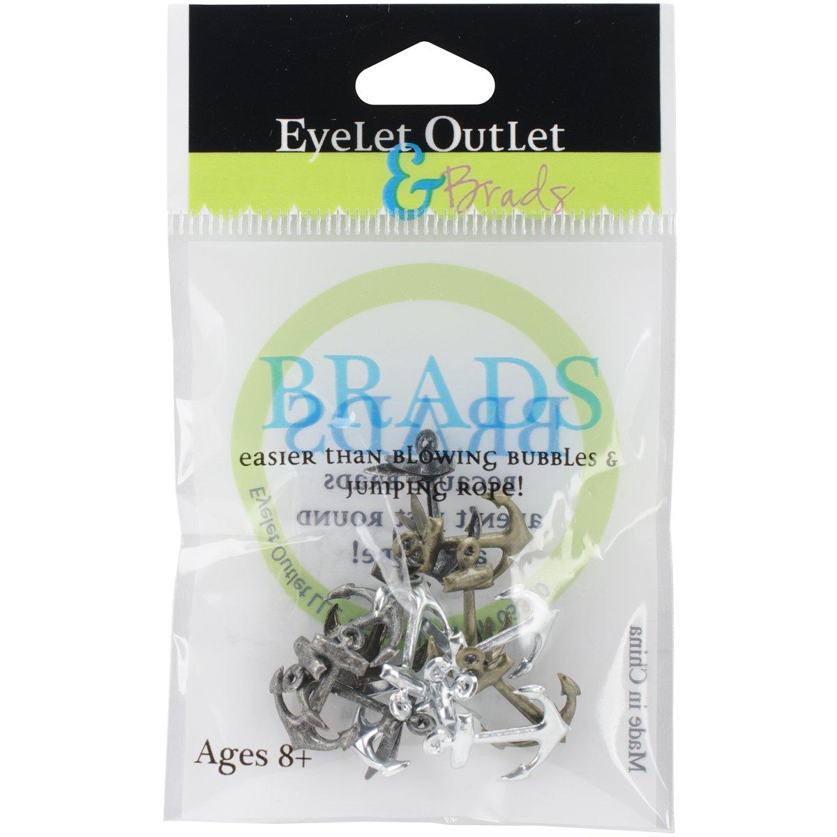Eyelet Outlet Anchor Brads, Metallic 42