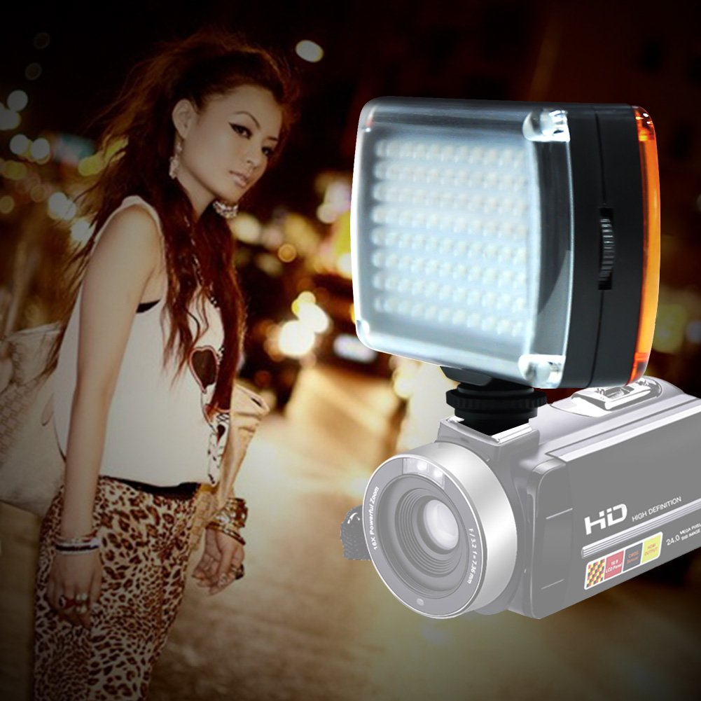 SEREE LED Light Portable Mini 96 LED 9W Camera Video Lamp Photo Lighting Hotshoe(LT-96)