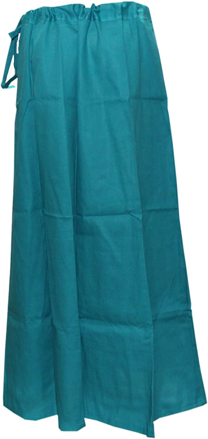 Set Of 5 Readymade Pure Cotton Petticoat Skirt Daily Wear Stitched Underskirt for Saree with Adjustable Waist Use For Indian Sari Inner Wear