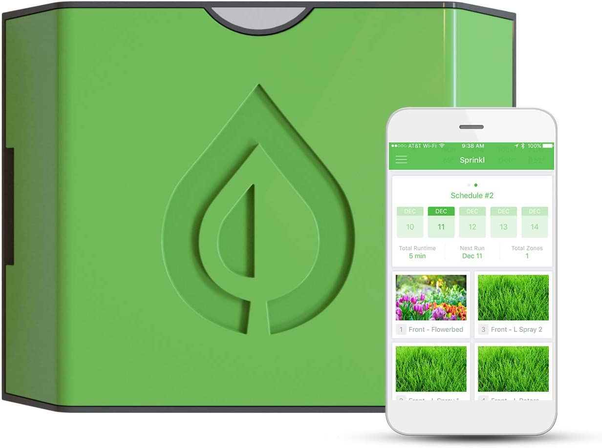 Sprinkl Control – The Smart Sprinkler Hub – 16 Zone WiFi Smart Irrigation Controller – Weather Intelligence, Remote Access, Built-in Fault Detection, Wireless Moisture Sensors, Compatible with Alexa
