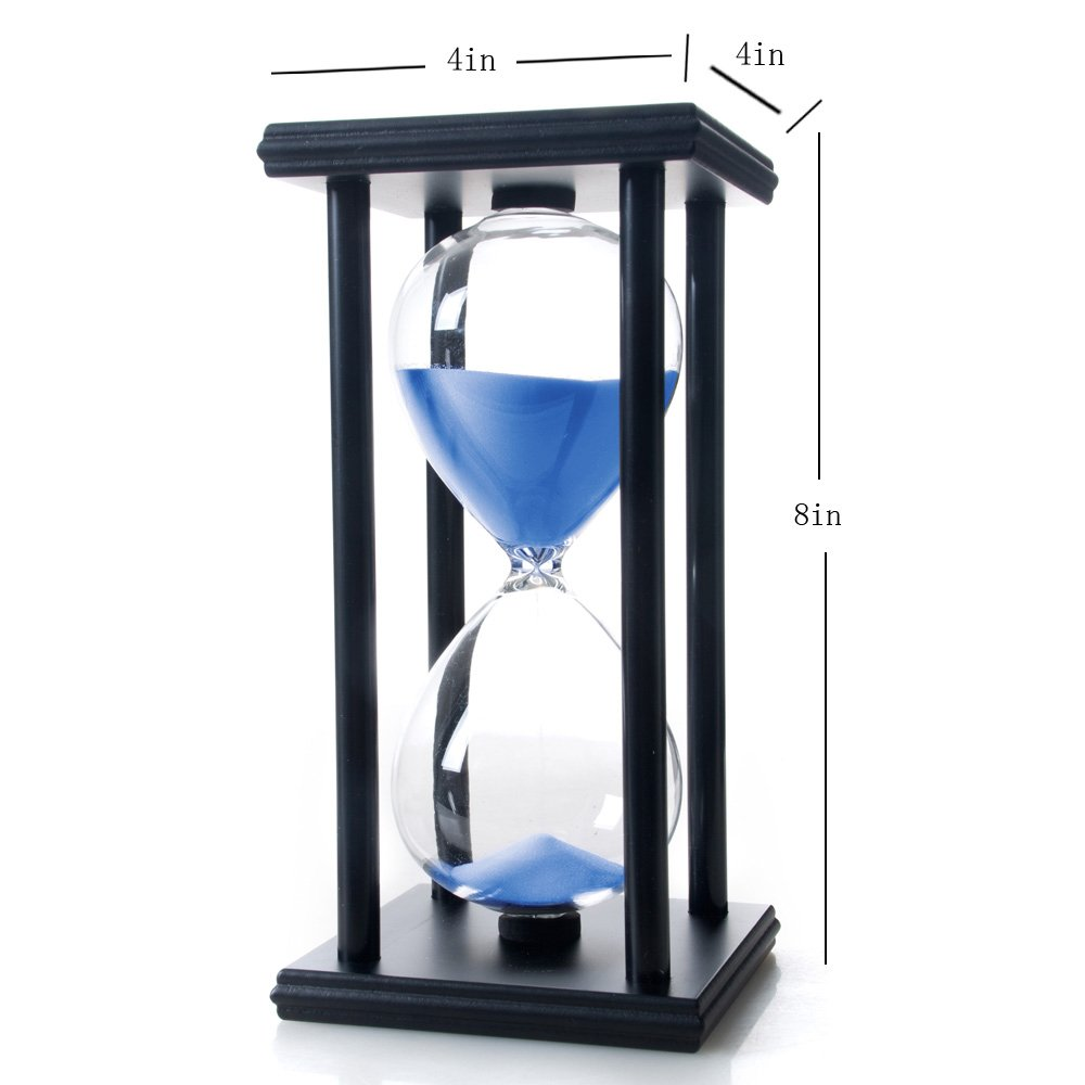 Bellaware 60 Minutes Hourglass, Wood Sand Timer, Blue by Bellaware (Image #5)