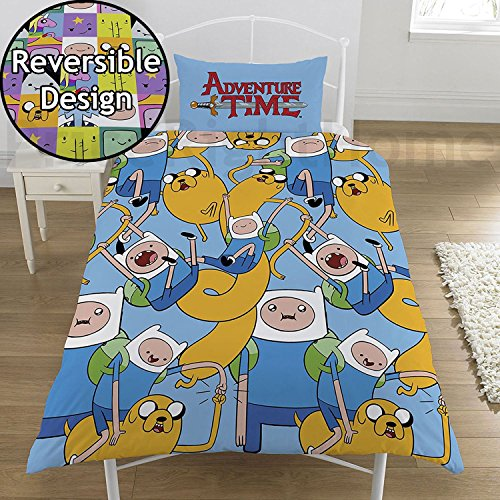 Adventure Time 2 Piece UK Single/US Twin Sheet Set 1 x Double Sided Sheet and 1 x Pillowcase