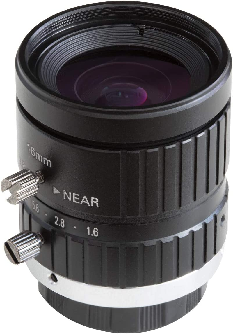 8mm Focal Length with Manual Focus and Adjustable Aperture Arducam C-Mount Lens for Raspberry Pi HQ Camera