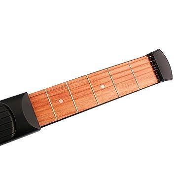 Juguetes Juegos Musicales Sonidos Guitarra Bolsillo 6 Trastes Práctica Principiantes Negro: Amazon.es: Juguetes y juegos