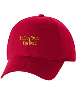 21a73626 In dog years I'm dead Custom Funny Humor Embroidery Embroidered Baseball  Hat Cap