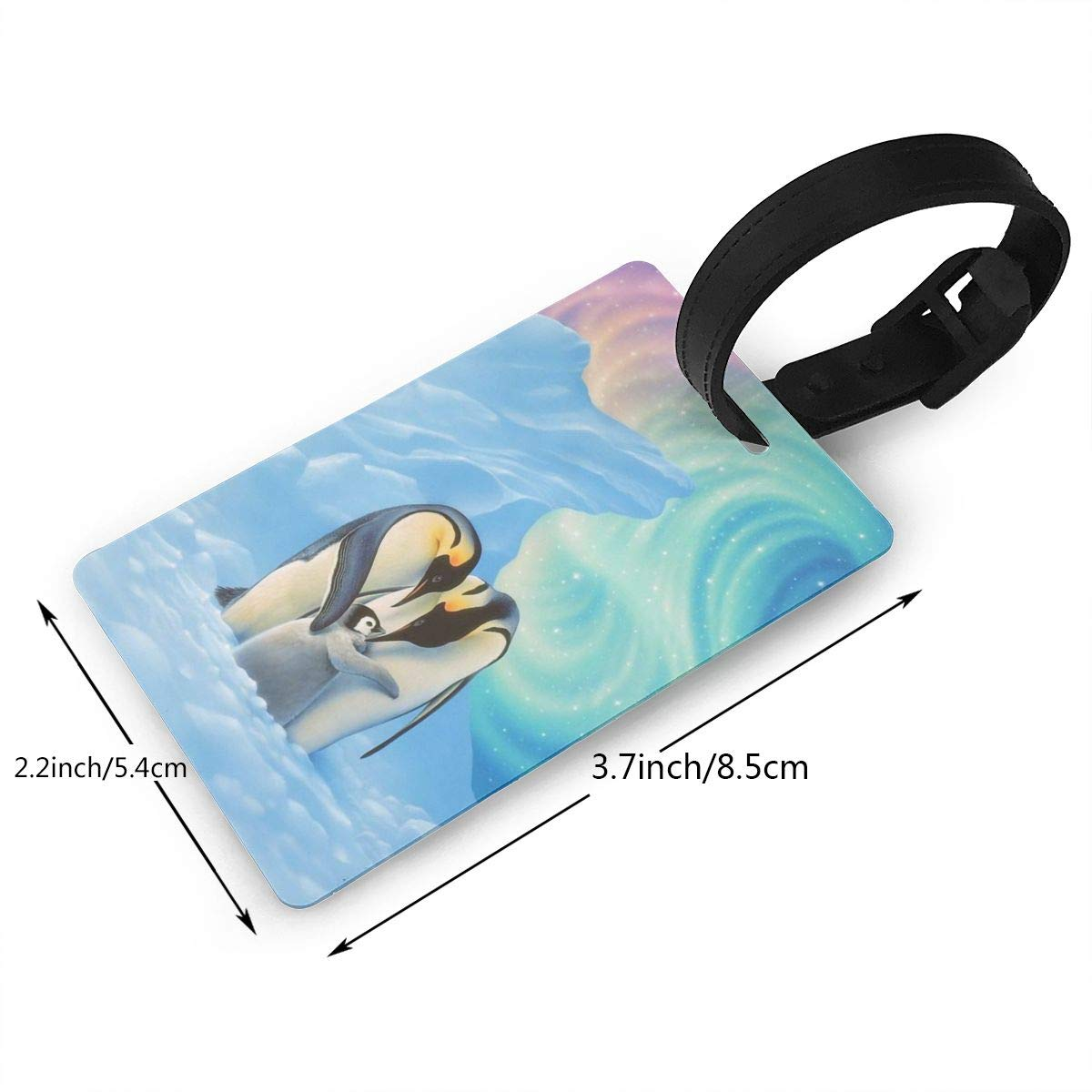 Penguins Family1 Handbag Tag For Travel Tags Accessories 2 Pack Luggage Tags