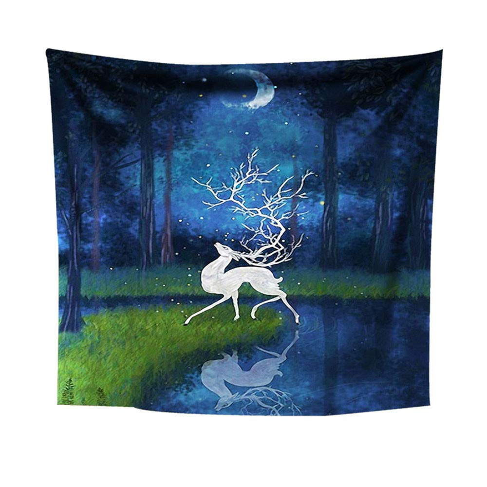 Weiliru Printed Shower Curtain Tapestry Throw Blanket Bedspread Coverlet Home Decor